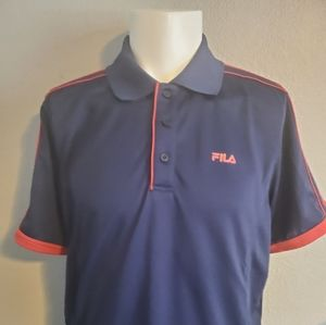 FILA  Blue & Red Performance Golf Polo Size Large